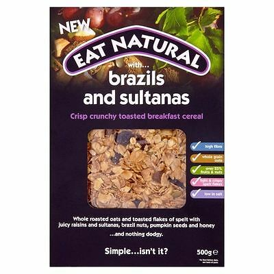 Eat Natural Brazils & Sultanas Breakfast Cereal 500g