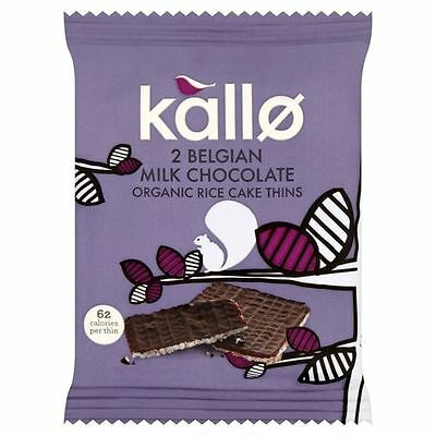 Kallo Belgian Milk Chocolate Organic Rice Cake Thins 25g