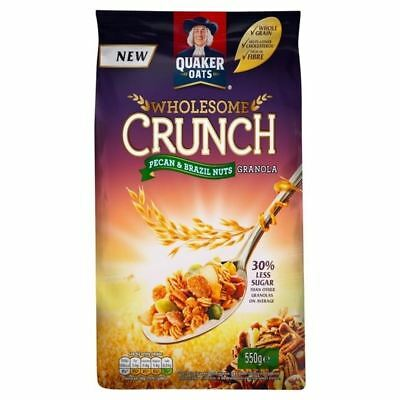 Quaker Wholesome Crunch with Pecan & Brazil 550g • AUD 13.25