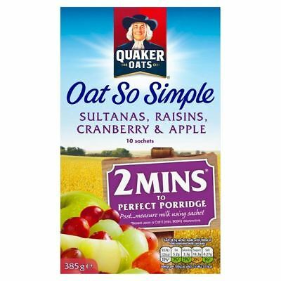 Quaker Oat So Simple Fruit Porridge 10 x 38.5g
