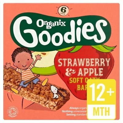 Organix Goodies Strawberry Cereal Bar Stage 4 6 x 30g