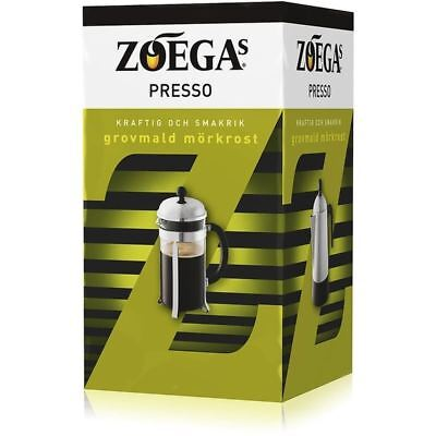 Zoega Presso - Dark Roast Ground Coffee for Cafetiere 500g