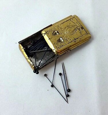 GERMAN NEEDLE CASE, Neuss Brothers (A.B. REUMONT); ANTIQUE c1880
