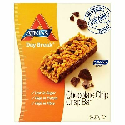 Atkins Day Break Chocolate Chip Crisp 5 x 37g