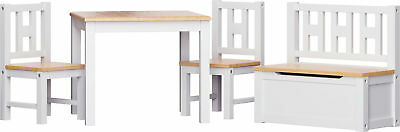 Table and chairs with chestbench - LUCA - Wooden Set Kids Children Play Toybox