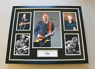 Sting Signed Photo Large Framed Music Autograph Display The Police + COA