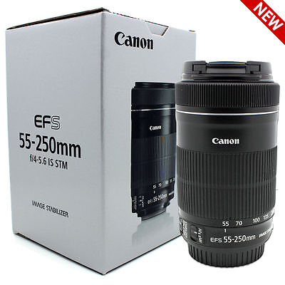 New Canon EF-S 55-250mm F4-5.6 IS STM Lens for Canon SLR Cameras