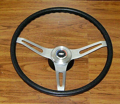 Comfort Grip Steering Wheel Kit Black Cushion 3spoke 67-8 Camaro Chevelle Impala