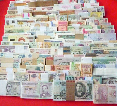102 Different World Paper Money Collection, All Genuine, UNC, New Banknotes.