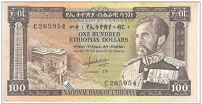 Ethiopian Bank Note 100 Dollars -  Emperor Haile Selassie I, Lion of Judah
