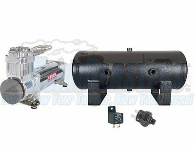 Viair 444C Compressor with 2 Gallon Tank & FREE 200 PSI Pressure Switch & Relay