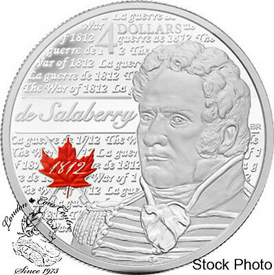 Canada 2012 $4 de Salaberry Pure Silver Coin - Original Price $49.95