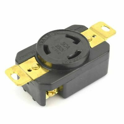 Twist Lock Wall Mount YGP017F Electrical Receptacle 3 Wire, 30 Amps, 250V, NEMA