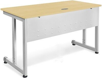 24'' D x 72'' W Contemporary Modular Desk and Worktable in Maple Finish