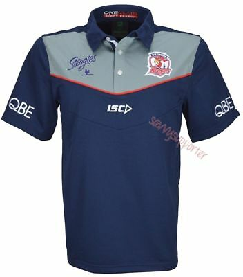 Sydney Roosters 2016 Grey Media Polo Shirt 'Select Size' S-5XL BNWT