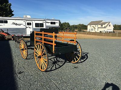 Amish Build Spring Wagon Horse Size