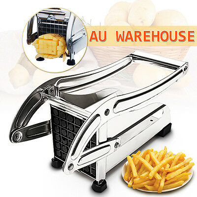 Stainless Steel French Fry Cutter Potato Vegetable Slicer Chopper Chipper Blades