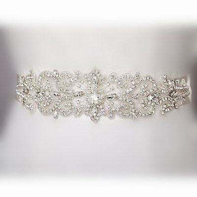 Big Promotions Pearl and Crystal White and Ivory Weeding Bridal Belt Sash