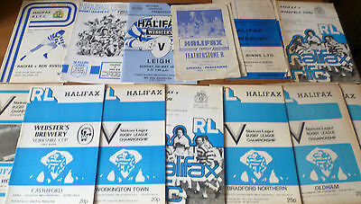 16x- Halifax RLC, Collection of League & Cup Home Programmes, 1968-91.