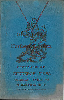 1950 - Northern Division v Great Britain - Touring Match Programme.