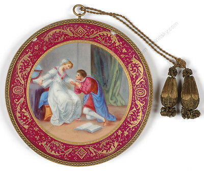 """""""Romeo and Julia"""", Vienna, Late 19th Century, Painting on Porcelain"""