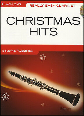 Really Easy Clarinet Playalong Christmas Hits Sheet Music Book/CD Elvis Slade