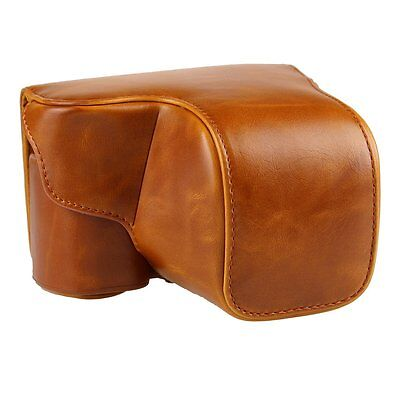 PU Leather Camera Case Bag For Sony A6000, A6300, NEX6 with 16-50mm short Lens