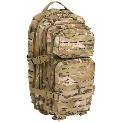 US Assault Pack Army Tactical Rucksack Hiking MOLLE Backpack 20L Multitarn Camo