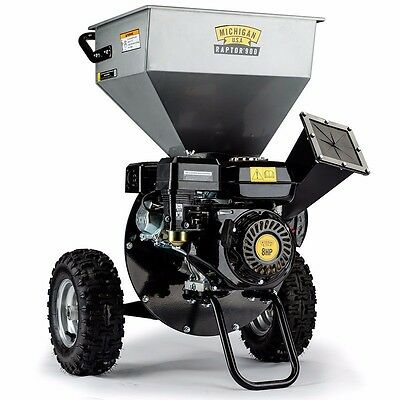 MICHIGAN RAPTOR 900 Wood Chipper/Shredder/Mulcher - 8HP - Upright Style- Garden