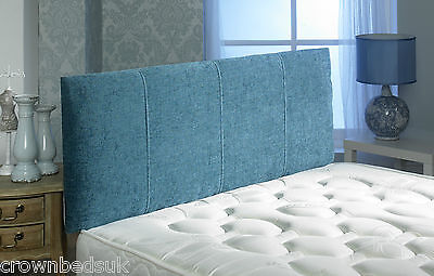 Victoria Chenille Stitched Headboard Various Colors 2Ft6,3Ft,4Ft,4Ft6,5Ft,6Ft