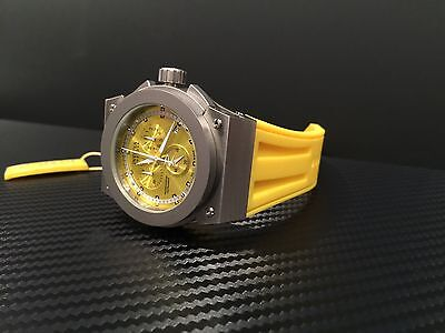 0a94bfc79 INVICTA MEN'S 1353 Reserve Akula Chronograph Yellow Dial Watch LOOK ...