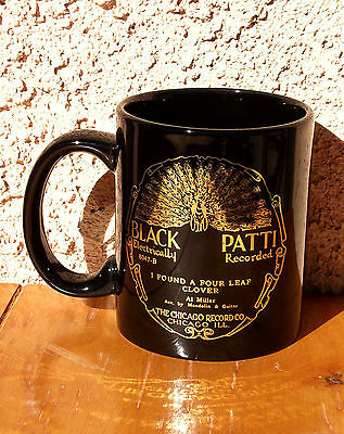 """Black Patti"" Coffee Mug - 20's Classic "" Record Label"