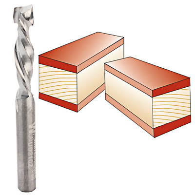 Whiteside #UD2102 Solid Carbide Up/Down Cut Two Flute Spiral Router Bit