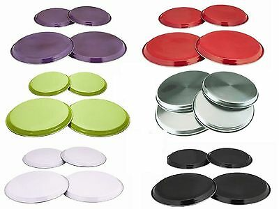 4 Pc Stainless Steel Coloured Hob Cover/protector Metal Ring Electric Cooker New