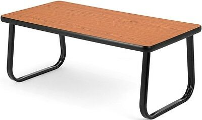 Magazine Table with Sled Base in Cherry Laminate Finish - Office Table