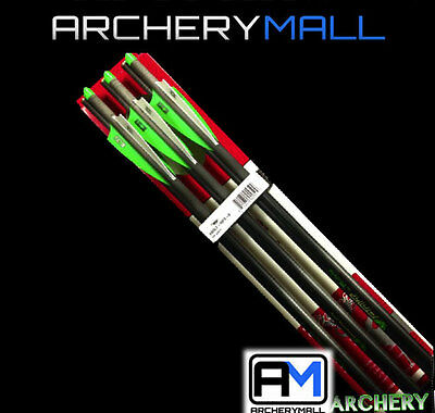 """NEW 6 VICTORY ARROWS/ BOLTS FOR CROSSBOW 20"""" or 22"""" HALF MOON NOCKS"""