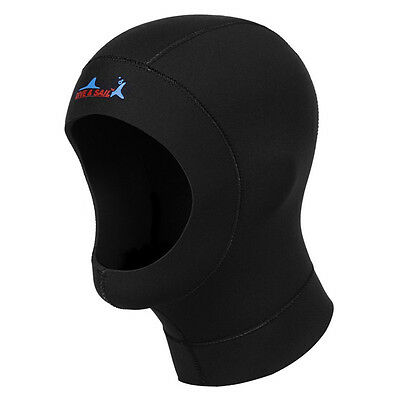 Hot 3mm Neoprene Scuba Diving Hat Scuba Diving Wetsuit Hood Divers Cap Black