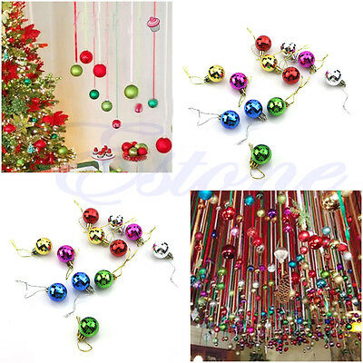 12x 3cm Christmas Ball Baubles Tree Hanging Ornament Decor Multicolor Xmas Gift