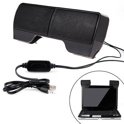 6W Mini USB Power Stereo Speaker System for Computer Laptop PC Desktop Notebook