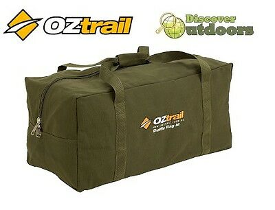 NEW Oztrail X-LARGE CANVAS Duffle Bag - Great for CAMPING HIKING Hunting Travel