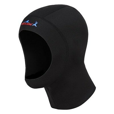 Hot 1mm Neoprene Scuba Diving Hat Scuba Diving Wetsuit Hood Divers Cap Black
