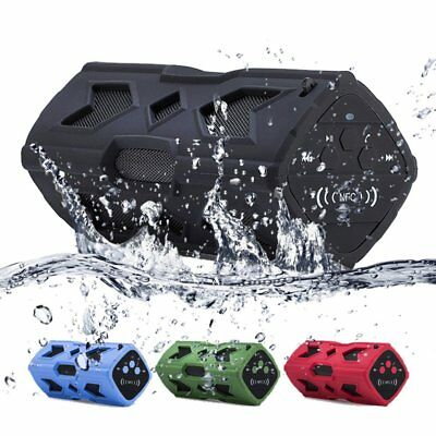 Portable Wireless Bluetooth Speaker Waterproof Splashproof NFC Tone Bass