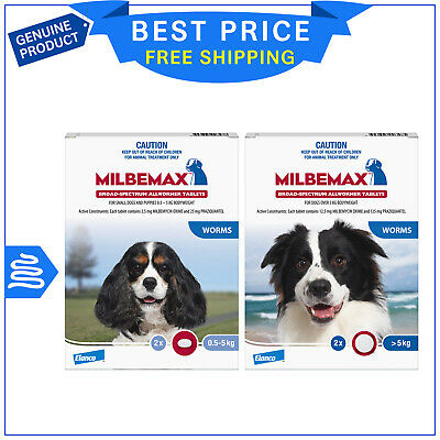 Milbemax Allwormer Tablets For Dogs All Sizes 2 Tablets by Novartis AU Stock