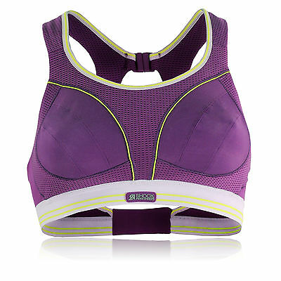 Shock Absorber Womens Ultimate Run Purple Seamless Quick Dry Sports Support Bra
