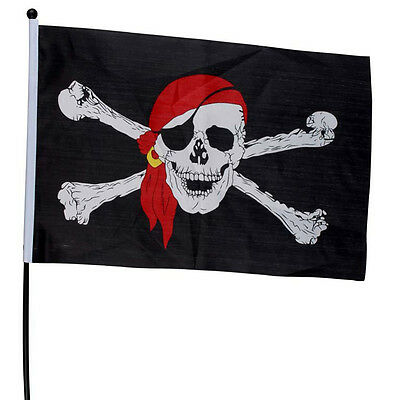 1Pcs New Large Skull Crossbones Pirate Flag Jolly Roger Hanging With Grommet Hot