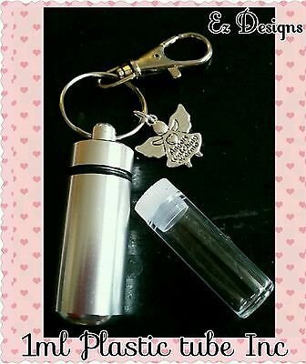 Ashes Cremation /keepsake WIDE Urn Keyring   Angels Watching XMAS Memorial £5.25