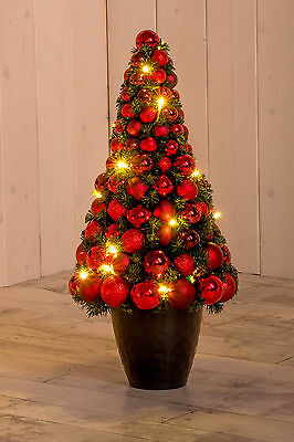 christbaum mit kugeln rot led beleuchtung 60 cm weihnachtsbaum lilimo eur 39 00. Black Bedroom Furniture Sets. Home Design Ideas