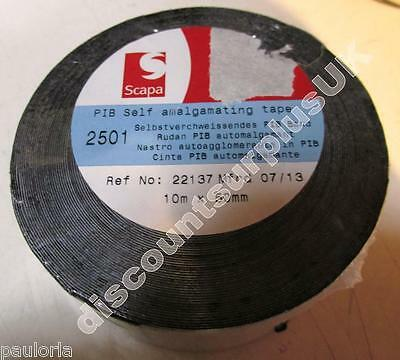 SCAPA 2501 PIB SELF AMALGAMATING TAPE 50mm x 10m **NEW WRAPPED ROLL**  RR08