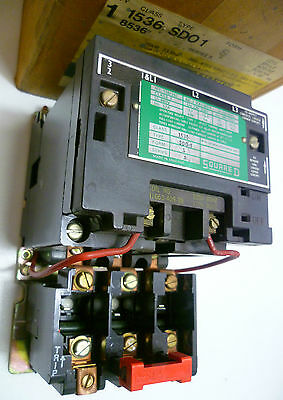 Square D 1536SD01 8536-SD01 AC MAGNETIC Starter 1536-SD01 380V-415V  3Pole