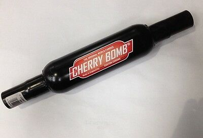 "Cherry Bomb Exhaust 3"" Small Case (Cb3/2) Reducer End Black - Genuine Cherrybomb"